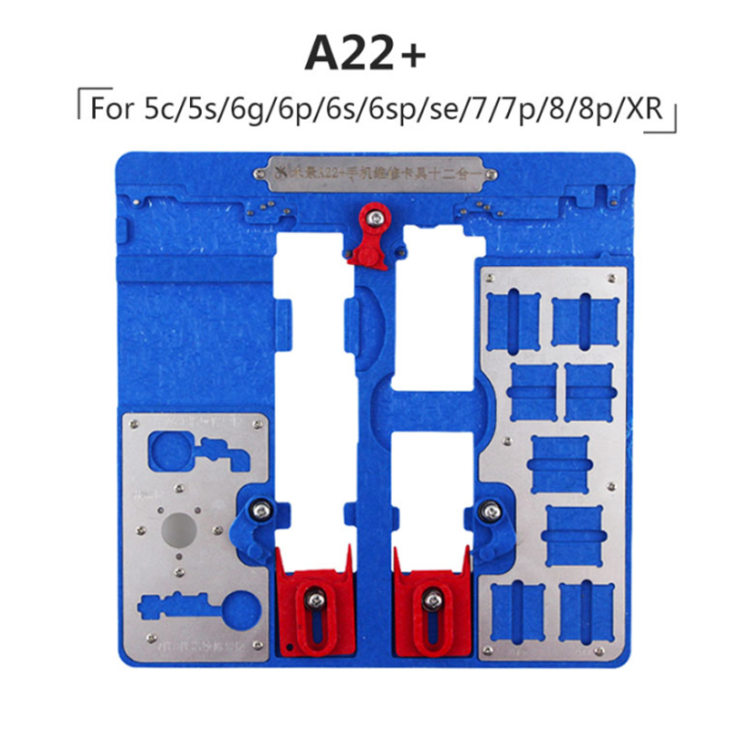 12in1 ACT A22 Plus PCB holder fixture for iPhone 8P/8G/7P/7G/6SP/6S/6P/6G/5S A10 A9 A8 A7 CPU Nand Chip Repair Tool12in1 ACT A22 Plus PCB holder fixture for iPhone 8P/8G/7P/7G/6SP/6S/6P/6G/5S A10 A9 A8 A7 CPU Nand Chip Repair Tool