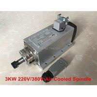 3KW Air Cooled Spindle Motor 220V 380V CNC Spindle Milling Motor ER20 Four Bearings For Engraving Machine Tools Machine Tool Spindle Tools -
