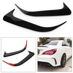 Plastik ABS czarny tylny Canard pokrywa wentylatora listwy ozdobne do dekoracji samochodu Benz CLA200 CLA220 CLA250