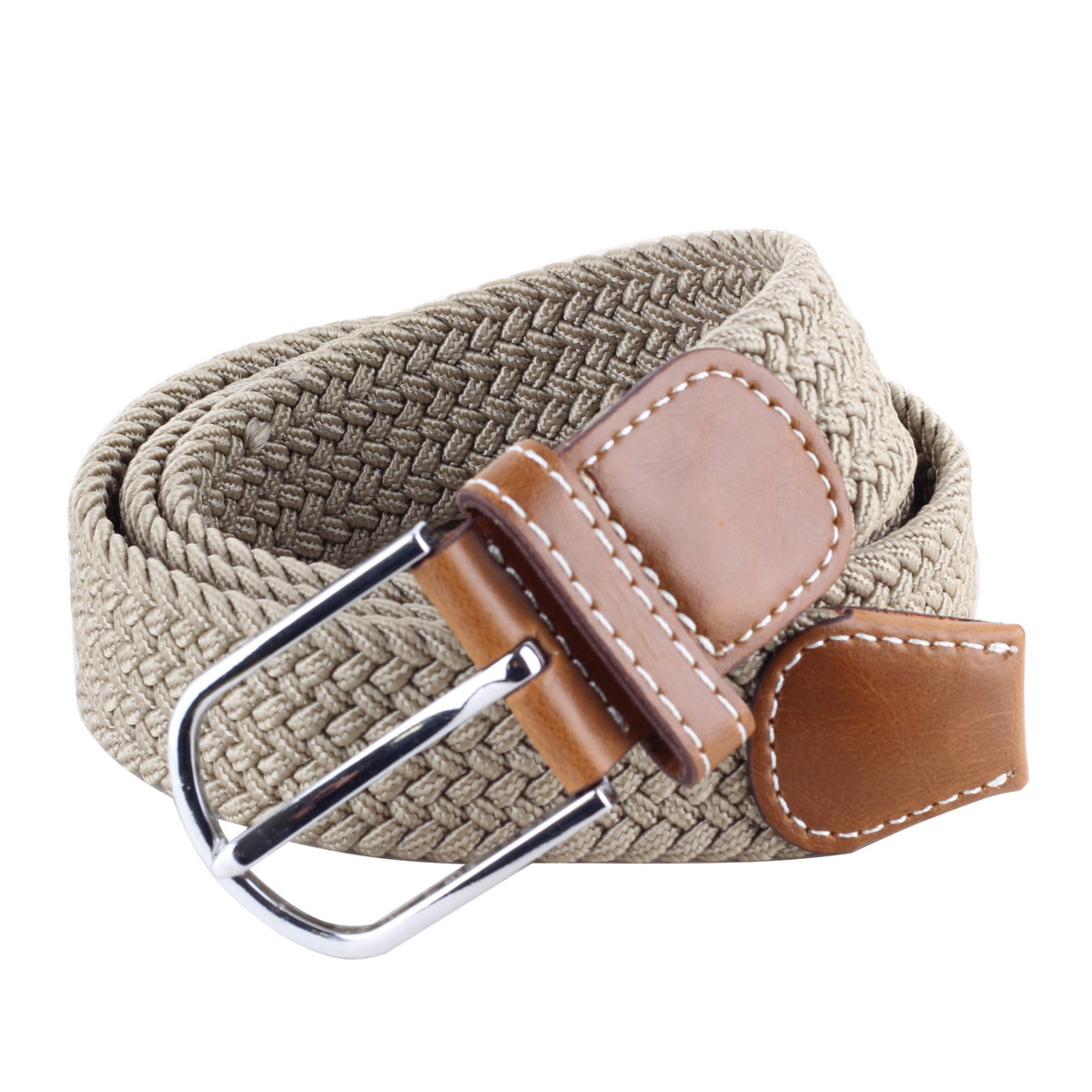 Women Men Male Thicken Canvas Belt Military Tactical Strap Knitted Jeans Casual Pant Woven Buckle Elastic Metal Buckle