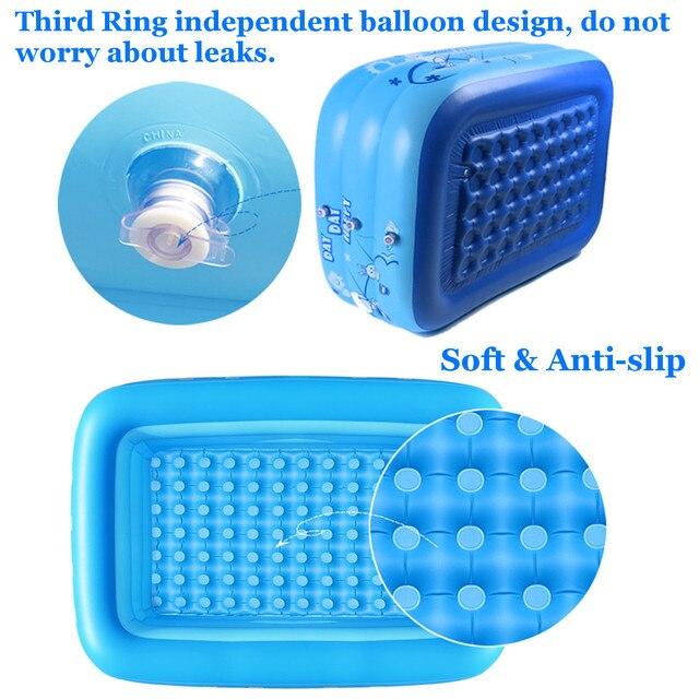 Bañera de baño para niños de 120/130/150cm para uso en el hogar para bebés, piscina cuadrada inflable para niños, piscina inflable para niños, envío gratuito 3