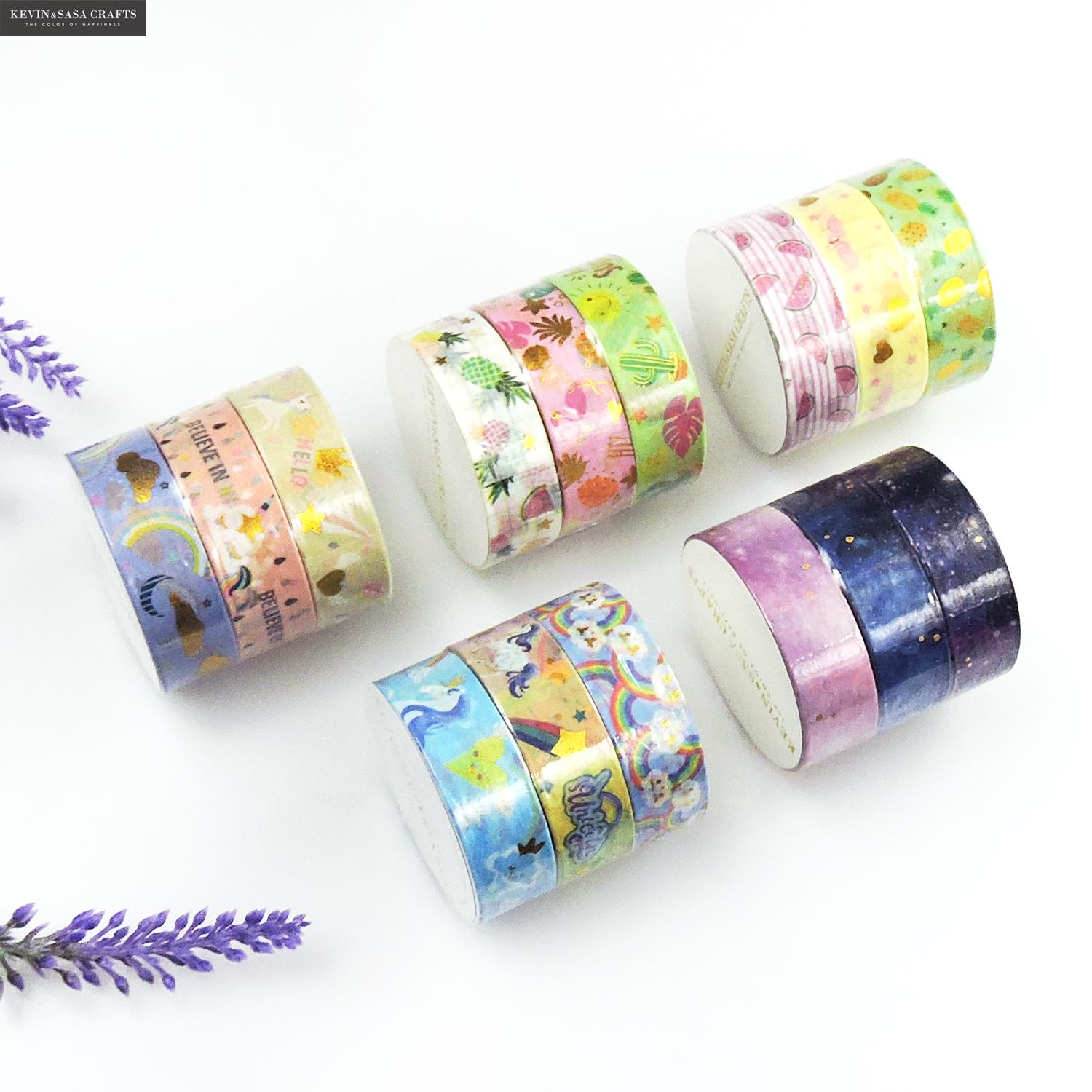 3Rolls/Set Washi Masking Tape Set Animal Fruits Paper Masking Tapes Japanese 15mm X 5m Washi Tape Diy Scrapbooking Sticker Tape
