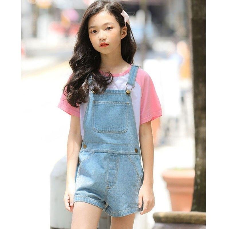 De Goedkoopste Prijs Mode 2019 Zomer Tiener Baby Meisjes Denim Overalls Voor Kinderen Jeans Jumpsuit Meisjes Blauw Shorts Bottoms Kinderkleding