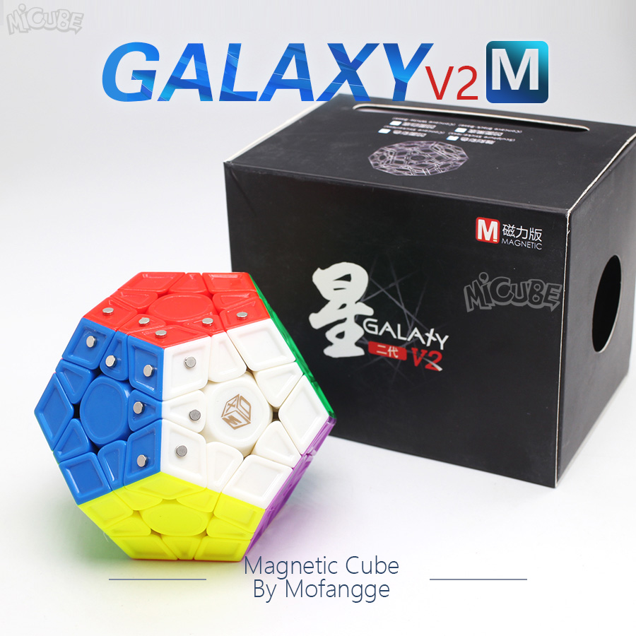 Mofangge X-Man Galaxy V2 M Cube Magnetic Megaminxeds Magic Cubes Speed Puzzle Professional 12 Sides Dodecahedron Cubo Magico