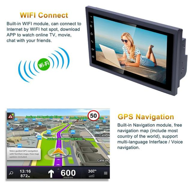 Android 8.1 Car Multimedia Player, Memory Touch Screen, Bluetooth MP5 Player,, GPS Navigation