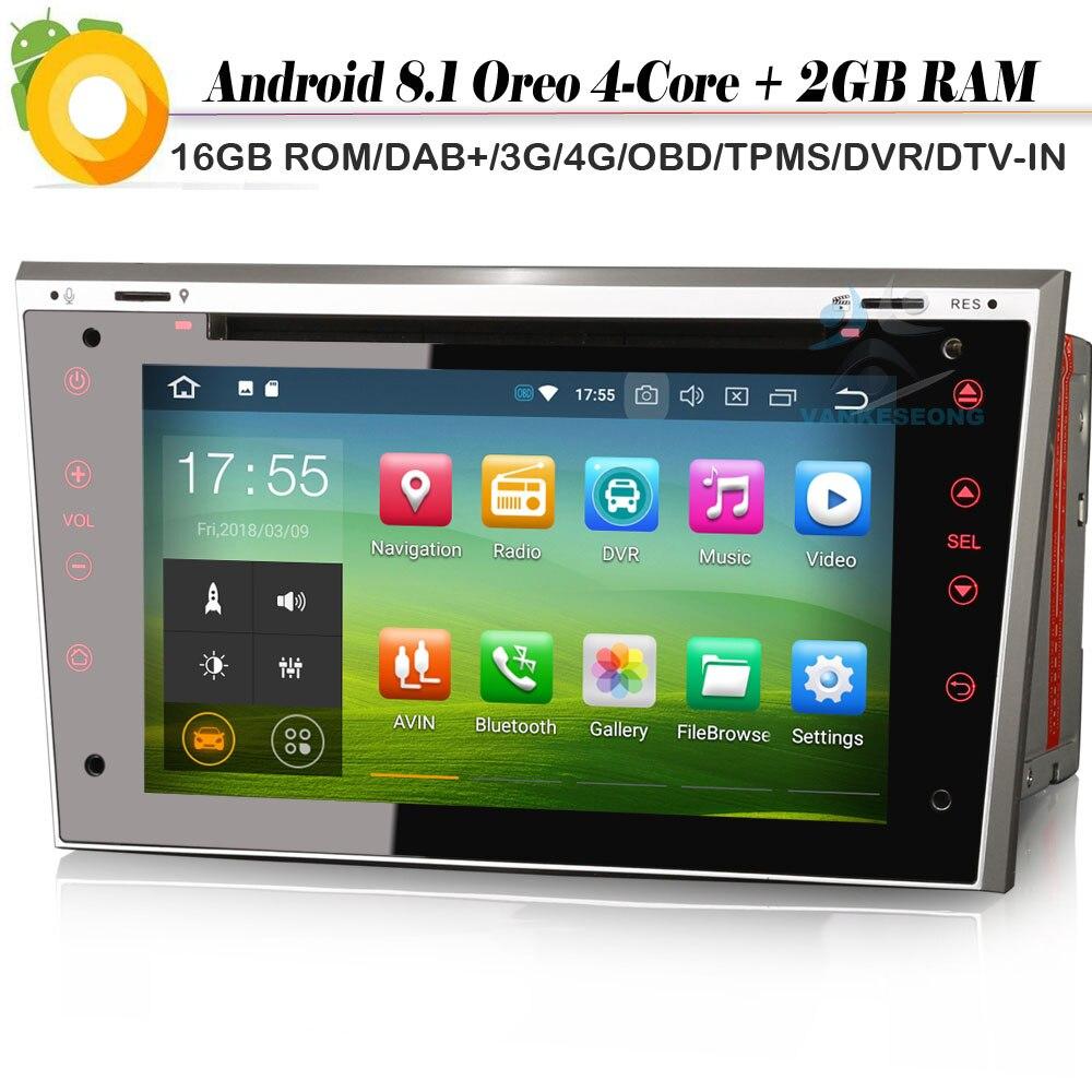 2 din DAB + 4 ядра Android 8,1 авто радио OBD NAVI Wi Fi 4G DVR Автомобильный мультимедийный плеер для Opel Astra Corsa Vectra Zafira Antara