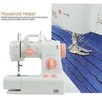 Nähmaschinenlicht | FHSM-318 Mini Nähen Maschine Eingebaute Licht Haushalt Ausbessern Maschine EU