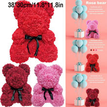 7c84238d125 2019 Romantic Valentine's Day Plush Rose Teddy Bear Cute Christmas Wedding  Present Without Box Wholesale Dropshipping