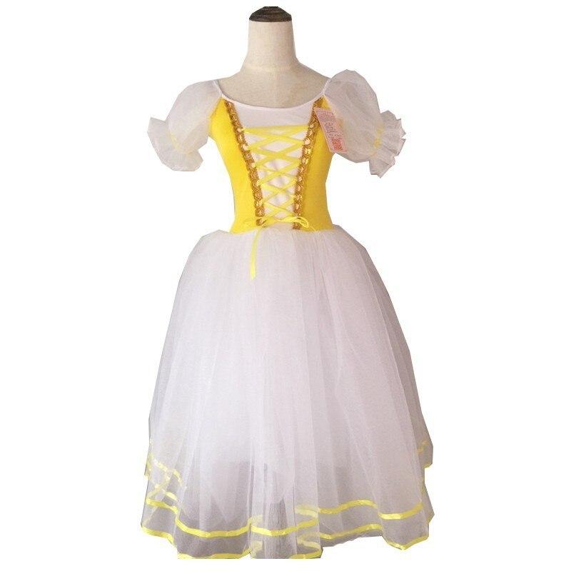 Image 4 - New Romantic Tutu Giselle Ballet Costumes Girls Child Velet Long Tulle Dress Skate Ballerina Dress Puff Sleeve Chorus DressBallet   -