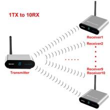 measy av230 2.4GHz 300m Wireless STB AV Sender TV Audio Video Transmitter & Receiver Set for IPTV DVD (1 TX TO 6RX)