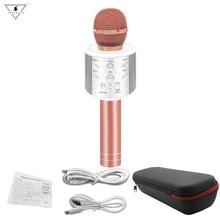 New WS858 Wireless Karaoke Bluetooth KTV HIFI Speaker Echo Mixer Condenser Mic Singing meeting Microphone PK WS-858