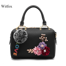 Witfox flower women casual fashion hand bags ladies shoulder cell phone pocket satchels solid boston packet