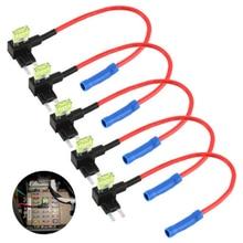 5Pcs Add-a-circuit Car Auto Adapter Blade Mini APM ATM Tap Micro Fuse Holder Car Accessories