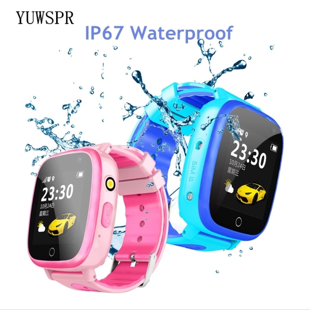 "Kids GPS tracker smart watches waterproof IP67 HD 1.44"" screen flashlight camera SOS GPS LBS Location for Children clock Q11"
