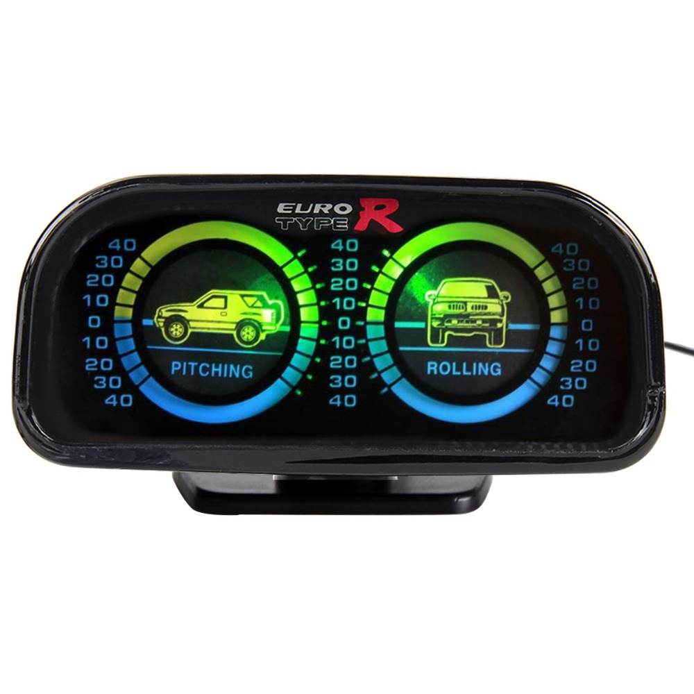 Euro Typer Car Adjustable Compass Balancer Slope Meter Tachometer