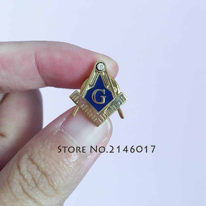 Square /& Compasses Freemason Lapel Pin