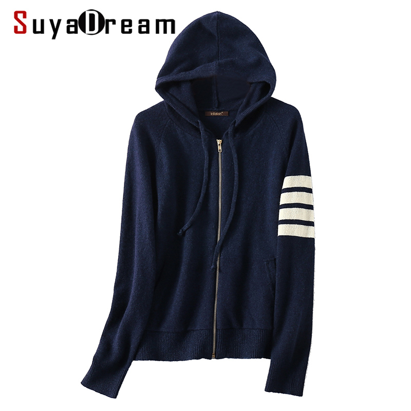 2c1df86f3c Detail Feedback Questions about Women Cardigans 100%Wool Hooded Sweater For  Women Two pocket Navy Sweater 2018 Fall Winter Knit Out wear on  Aliexpress.com ...