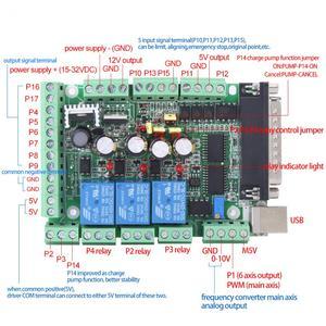 Image 2 - Máquina de gravura do cnc MACH3V2.1 L placa adaptador 4 axls 6 axls controlador acessórios novo