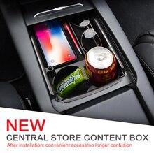 LUCKEASY для Tesla модель X модель S автомобиля центральный подлокотник коробка средства ухода автомобиля центральной консоли Организатор