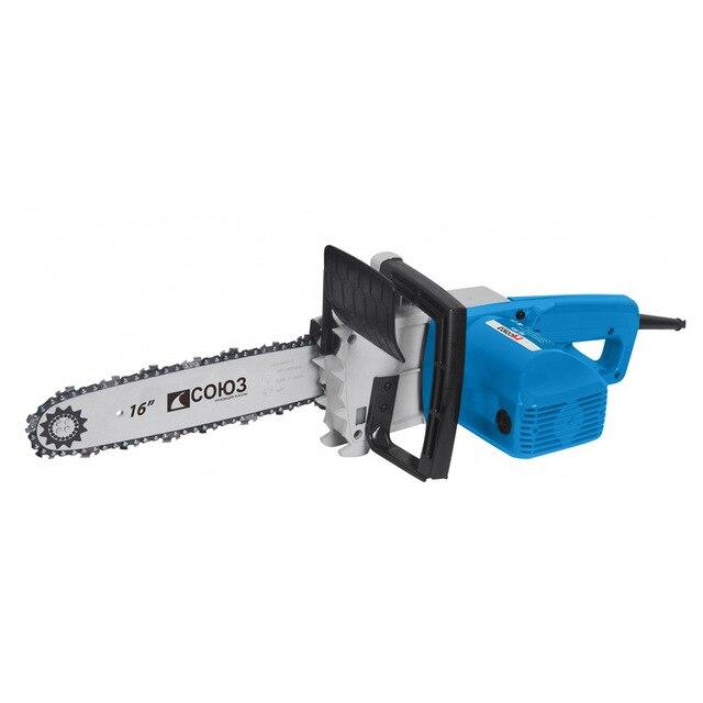 Пила цепная электрическая СОЮЗ ПЦС-9926 (автоматическая смазка цепи, встроенное окошечко позволяет контролировать уровень масла, инструмент оснащен тормозом)