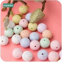 Bopoobo 100 perles en Silicone 15mm bricolage bébé, accessoires de départ et renforcement des dents, Non toxique