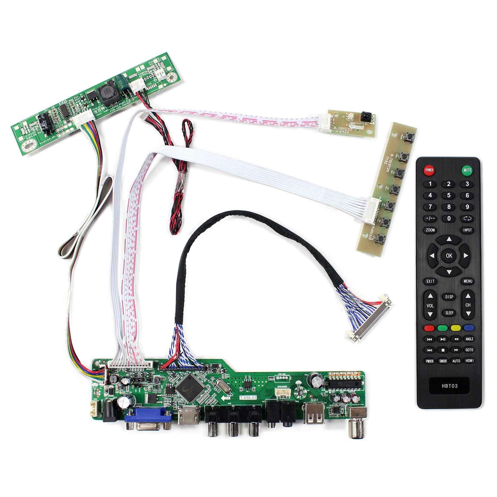 Carte contrôleur TV + HDMI + VGA + AV + USB LCD pour écran LCD 21.5 pouces 1920x1080 T215HVN01.0 M215HW03 V1 V2 M215HGE L23-in Pièces de rechange et accessoires from Electronique    1
