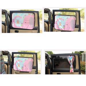 Image 5 - 70*50cm Car Cartoon Curtain Cover Sun Blocking Auto Curtain Side Blocking Tensile Sunshade Curtain for Children car styling