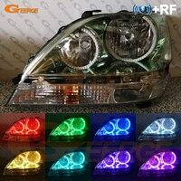 For Lexus RX300 RX 300 1999 2000 2001 2002 2003 RF Bluetooth Controller Multi Color Ultra bright RGB LED Angel Eyes kit