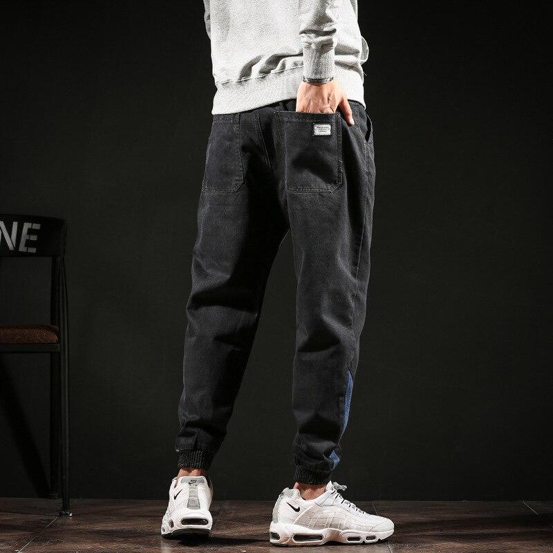 #2013 Autumn Winter Pencil Harem Denim Jeans Plus Size Biker Jeans Black Loose Vintage Japanese Streetwear Fashion Full Length 2