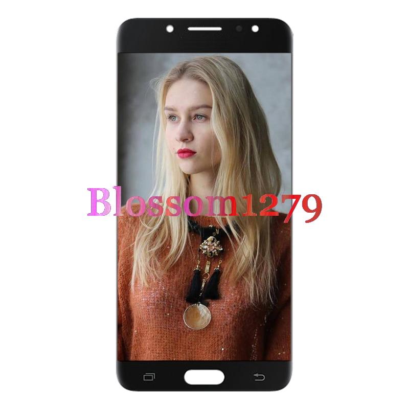 10 pièces (entièrement testé) AMOLED TFT pour Samsung Galaxy C7 2017 C710/J7 Plus LCD écran tactile numériseur assemblée remplacement