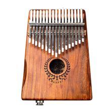 17 키 EQ kalimba 아카시아 엄지 피아노 링크 스피커 전기 픽업 calimba 가방 케이블 단단한 나무 Kalimba 악기 Sanza