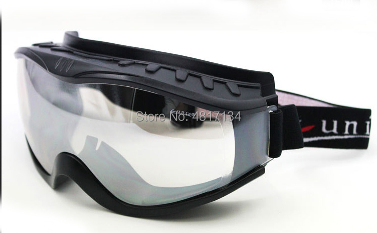 'Over The Glasses' OTG Anti-fog Riding Goggles Outdoor Eyewear Fit The Glasses Black TPU Frame Clear PC Lens