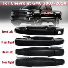 Front Rear ABS font b Exterior b font Door Handle Outside Door Handle For Chevrolet Silverado