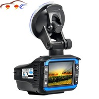 New 2 in 1 RD + Car DVR Camera Dash Cam Video Radar Speed Detector Night Vision HD LCD Display 720P Support 32G TF Dashcam