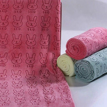 20cm x 50cm Microfiber Solid Bath Towel Beach For Adults Fast Absorbent Soft Thick Antibacterial Drying