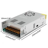 CLAITE 400W AC 110 220V Input To DC 24V 17ASwitching Power Supply Driver Board for LED Strip
