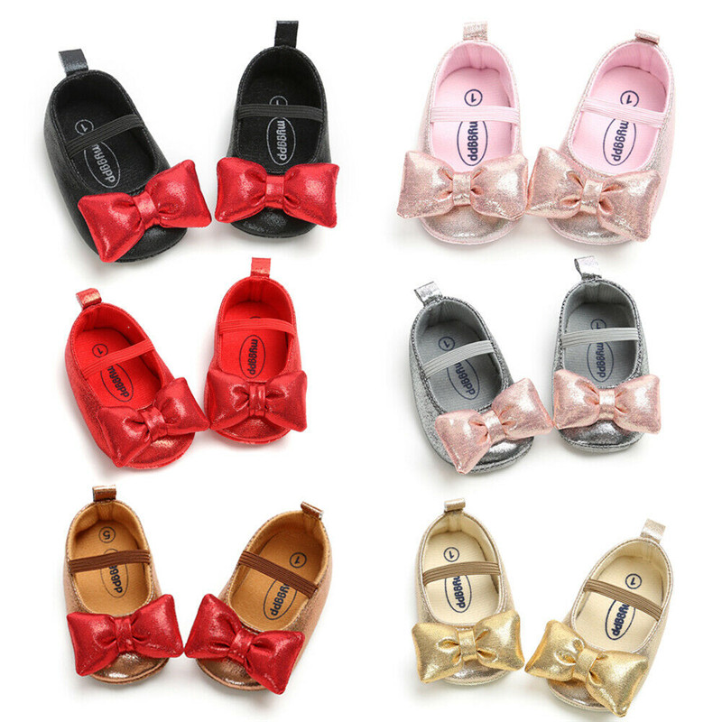 6 Colors  Brand PU Leather Baby Boy Girl Baby Moccasins Moccs Shoes Bow Fringe Soft Soled Non-slip Footwear Crib Shoes Wark