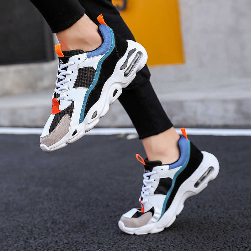 7aec456d14b316 Men s Chunky Trainers Sneaker Dad Shoes High Platform Shoes Men Sneakers  Classic Brand Black And White