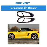 For Porsche 981 Boxster 2013 2014 2015 Carbon Fiber Car Door Side Fender Vents Trims Frame Decoration Cover|Car Covers|   -