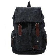 Fashion Mens Backpack Vintage Canvas Shoulder bag school travel
