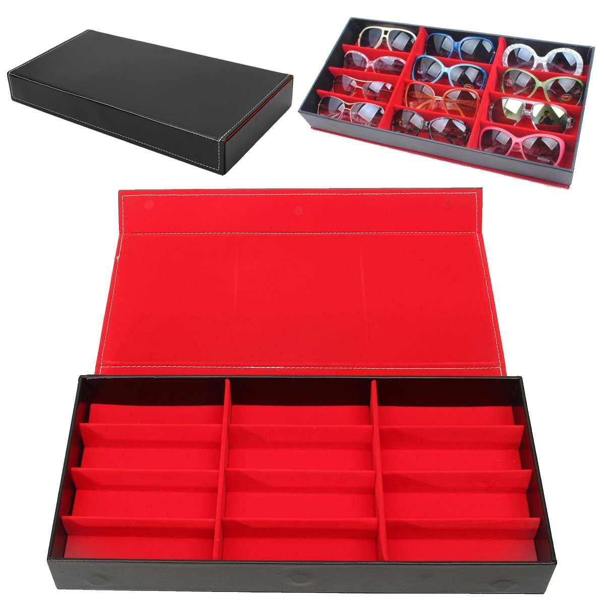 Organizer Glasses Storage-Box Display Case Case-Stand-Holder 12-Grid Eyewear
