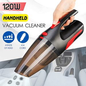 Image 1 - Portable 4m Cord length Handheld Car Vacuum Cleaner Wet/Dry Vaccum Cleaner for Car Home 120W 12V 5000PA