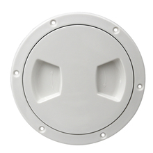 1 Pcs Plastic Marine Boat RV White Round 5 Inch Access Hatch Cover Screw Out Deck Separate Plate