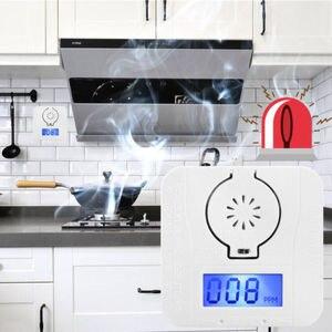 Image 4 - أول أكسيد الكربون الرقمية جهاز إنذار للتحذير مستشعر درجة الحرارة شاشة الكريستال السائل للكشف عن أول أكسيد الكربون