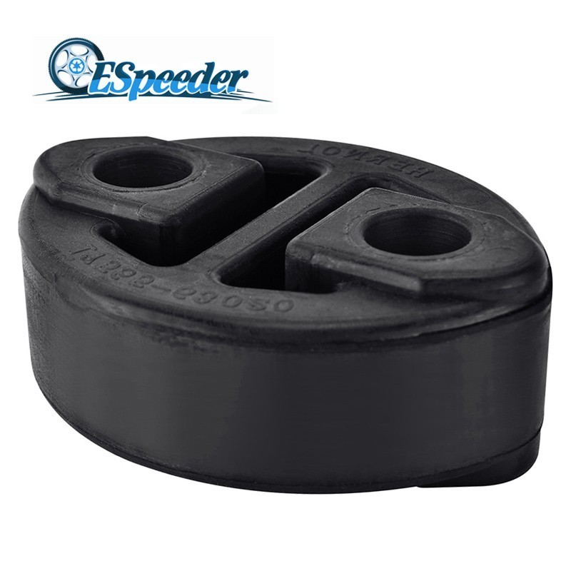 ESPEEDER Black 2 Holes Exhaust Muffler Hangers Mount Bracket Exhaust Ring Hanger Bracket Holder OEM 17565-63020 Rubber
