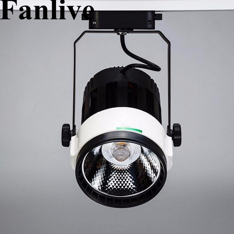 Fanlive 15pcs Cob Track Light 15w 20w 30w Cob Rail Lights Spotlight Equal 150w 300w Halogen Lamp Warm/cold White Ac85-265v Discounts Price Lights & Lighting