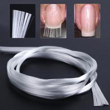 1m/1.5m/2m Nail Art Fiberglass For UV Gel DIY Nails White Acrylic Nail Extension Tips With Scraper DIY Nail Spa Tool цены