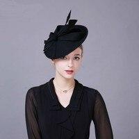 Catwalk Fascinators Winter Hats For Women Chic Hairband Party Wool Felt Pillbox Hat Church Wedding Dress Ladies Formal Fedoras