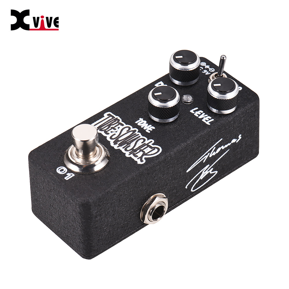 xvive o1 tube squasher overdrive high quality guitar effect pedal with drive level control full. Black Bedroom Furniture Sets. Home Design Ideas