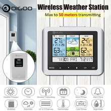 Digoo DG-TH8888 Weather Station White Color Wireless Home Digital Thermometer Humidity Meter USB Outdoor Forecast Sensor Clock